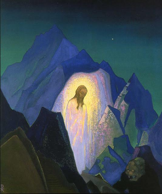 Nicholas Roerich - Christ in desert