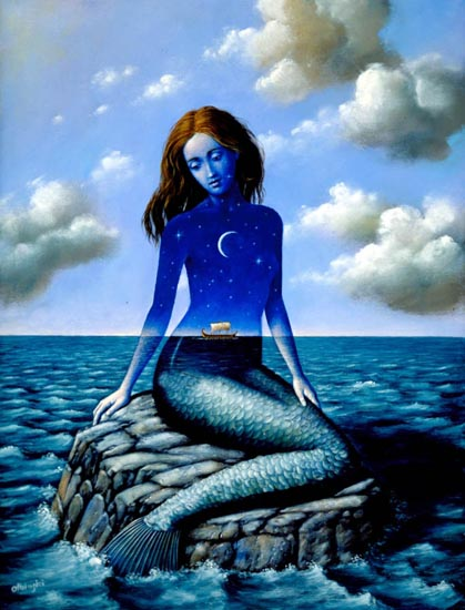 Art New Ocean Mermaid, Undines