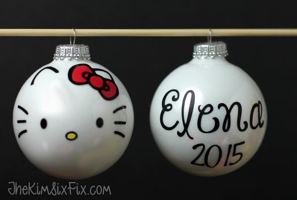 5debf7525 Easy DIY Hello Kitty Ornaments - The Kim Six Fix
