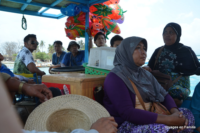 Public boat from Gili air to Lombok