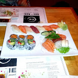 sushi time at Mi-Ne in Scarborough, Ontario, Canada