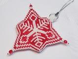 Снежинки из бисера. Схемы кирпичным плетением