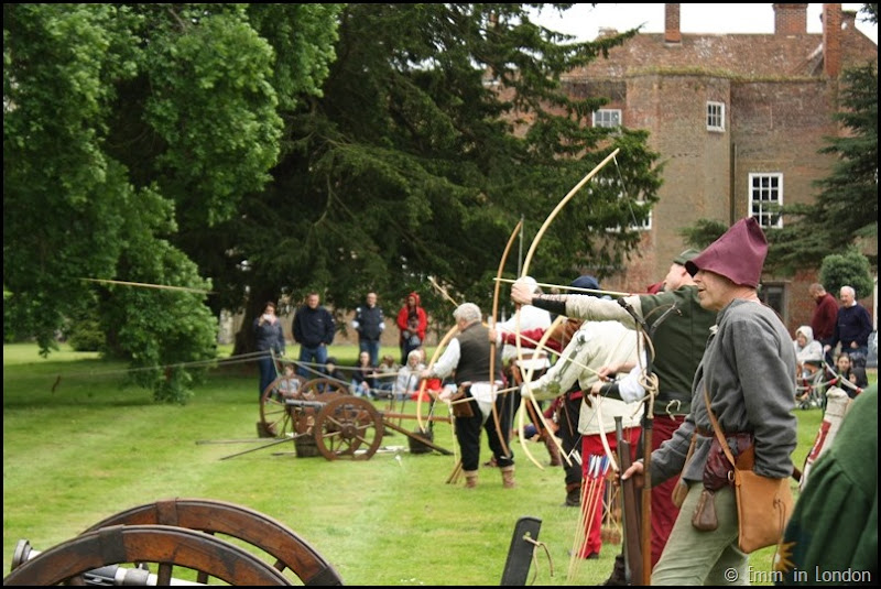 Archers at Lullingstone Castle medieval weekend