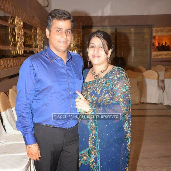 Bharat and Amisha Motwani during Sumit-Toshi Motwani's wedding reception, held in Nagpur.