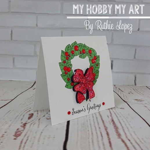 Christmas-wreath-christmas-card--crafty-sentiments-designs-Ruth-Lopez-My-Hobby-My-Art-1