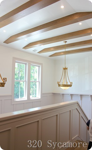 beams and wainscoting