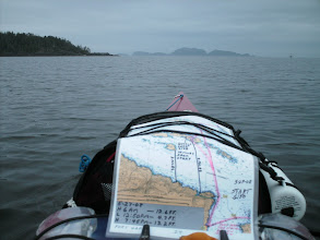 Photo: The Gordon Islands off in the distance across Goletas Channel. Duval Island is in the left foreground.