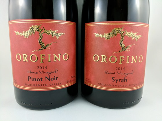 Orofino 2014 Home Vineyard Pinot Noir & Scout Vineyard Syrah