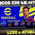 BAIXAR NOVO EFOOTBALL 2022 com TIMES ATUALIZADOS e novos UNIFORMES • PES 22 4K