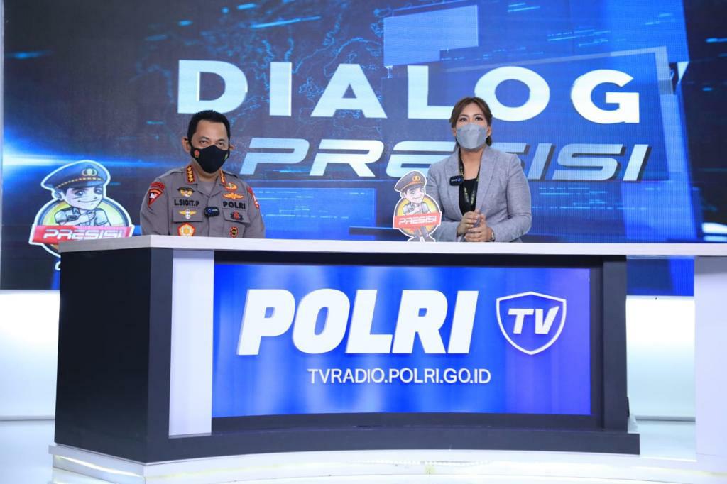 Launching Polri TV-Radio. Kapolri ; Agar Lebih Dekat Memberi Edukasi dan Informasi Masyarakat
