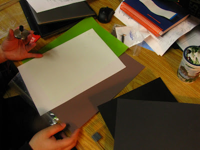 other polishing papers, go from black, to grey, to green to white