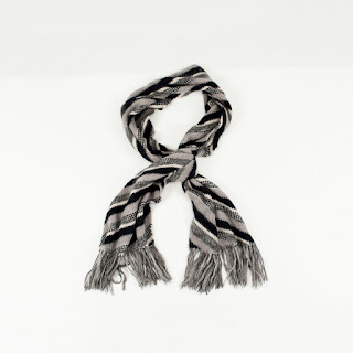 Missoni  Black/White/Grey Stripe Scarf