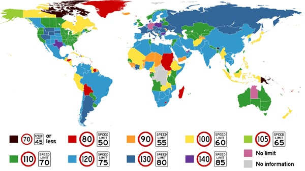 maximum speed limits