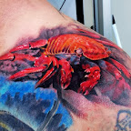 tattoo on shoulder crab - tattoo designs