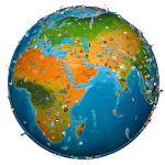 world map atlas 2016 Icon