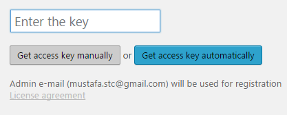 enter the access key