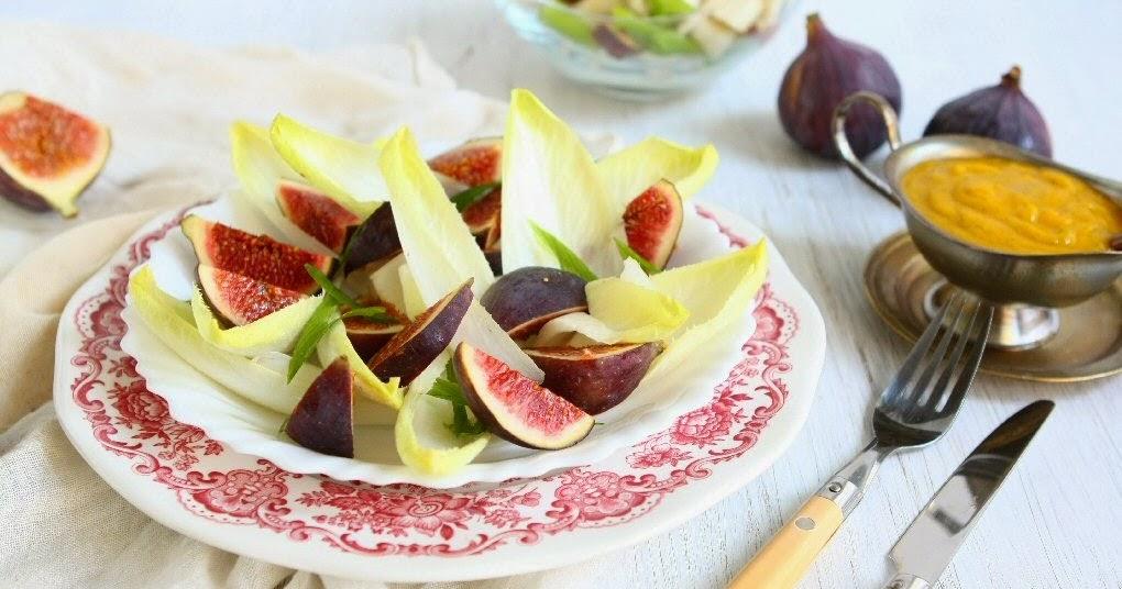 Belgian Endive Fig Salad with Pumpkin Vinaigrette