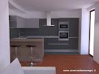 progetto rendering di cucina Valcucine in Brescia