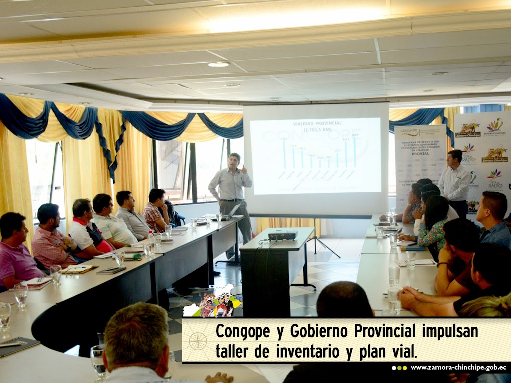 CONGOPE Y GOBIERNO PROVINCIAL IMPULSARÓN TALLER DE INVENTARIO Y PLAN VIAL.