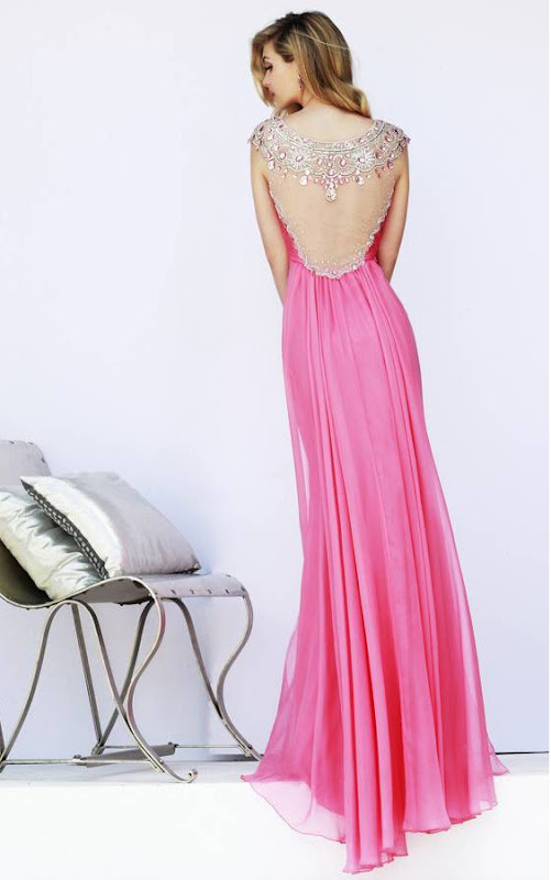 Prom Dress Ideas That Would Make You Stand Out Pink Sweetherat Pleatded Bodice Long Chifon Prom Dress with Crystal Detailling