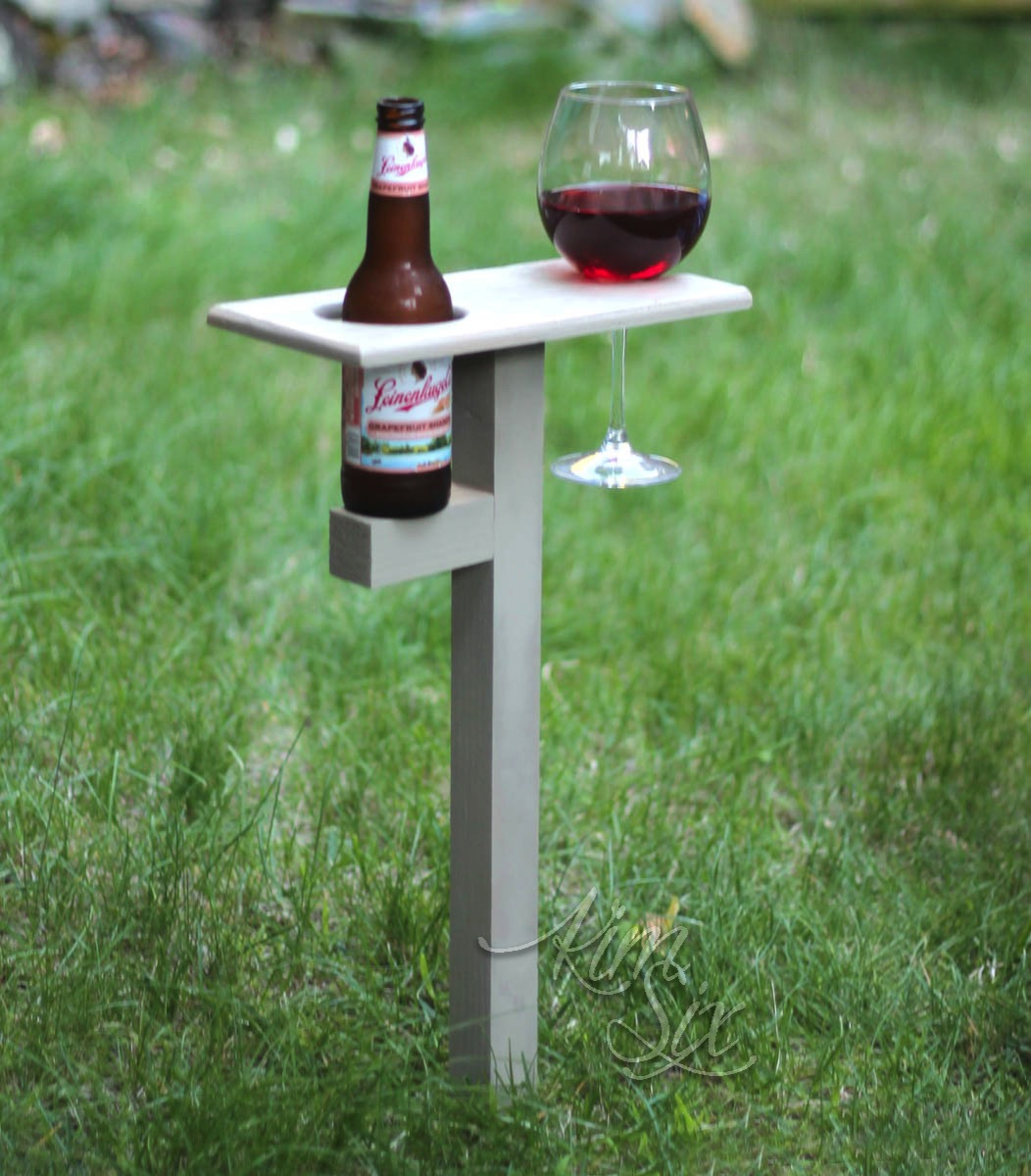 In ground beverage caddy