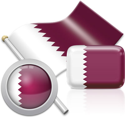 Qatari flag icons pictures collection