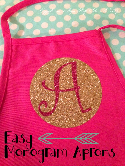 Easy monogram aprons