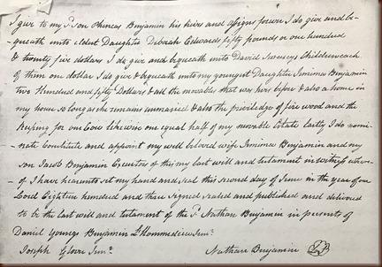 Benjamin Nathan 1806 will page 2