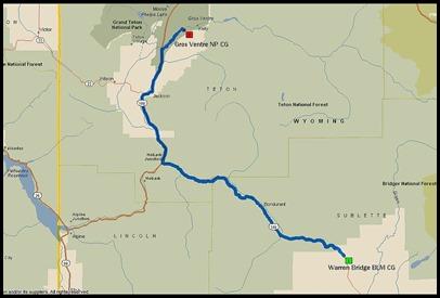 Daniel to Jackson Map