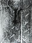 Gekreuzigter, Struckturiertes Glas, Schwarzlot eingebrannt,  2006/07