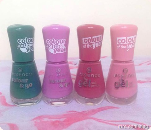 Pantone colour of the year essence nail polishes the green and the grunge, purple sugar, my love diary and forgive me. Pantone colour of the year 2013 Emerald, 2014 Radiant Orchid, 2015 Marsala, 2016 rose quartz. Color of the Year