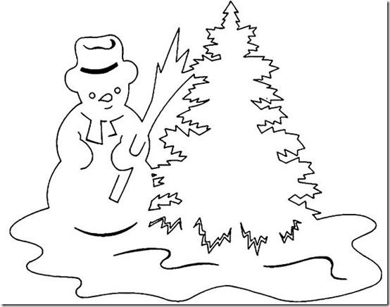 patrones para recortar ventanas navidad  (2)