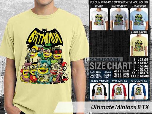 Kaos Kartun Ultimate Minions 8 Batman distro ocean seven