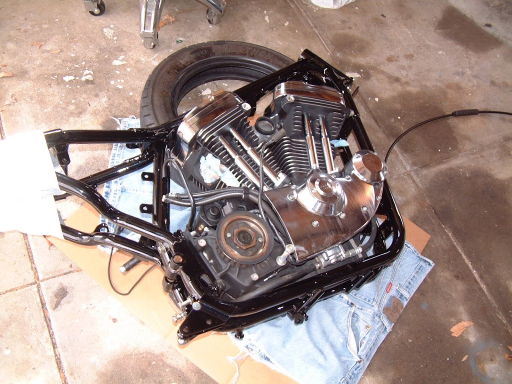 Ideas for mounting a center stand the sportster and for Sportster solid motor mounts