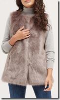 Oasis faux fur gilet