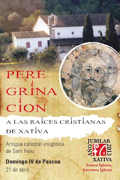 Peregrinación a las raices de Xàtiva. Iglesia Colegial Basílica de Santa María de Xàtiva. 600 aniversario 2013.
