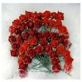 Papirdesign: Rød - Roser 1cm