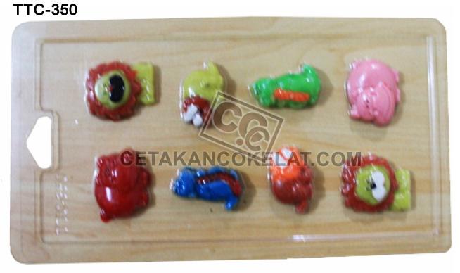 cetakan coklat cokelat binatang hewan fauna singa kudanil nil TTC350