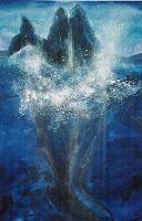 Pottwale', Acryl auf Leinwand, 100x150, 2002