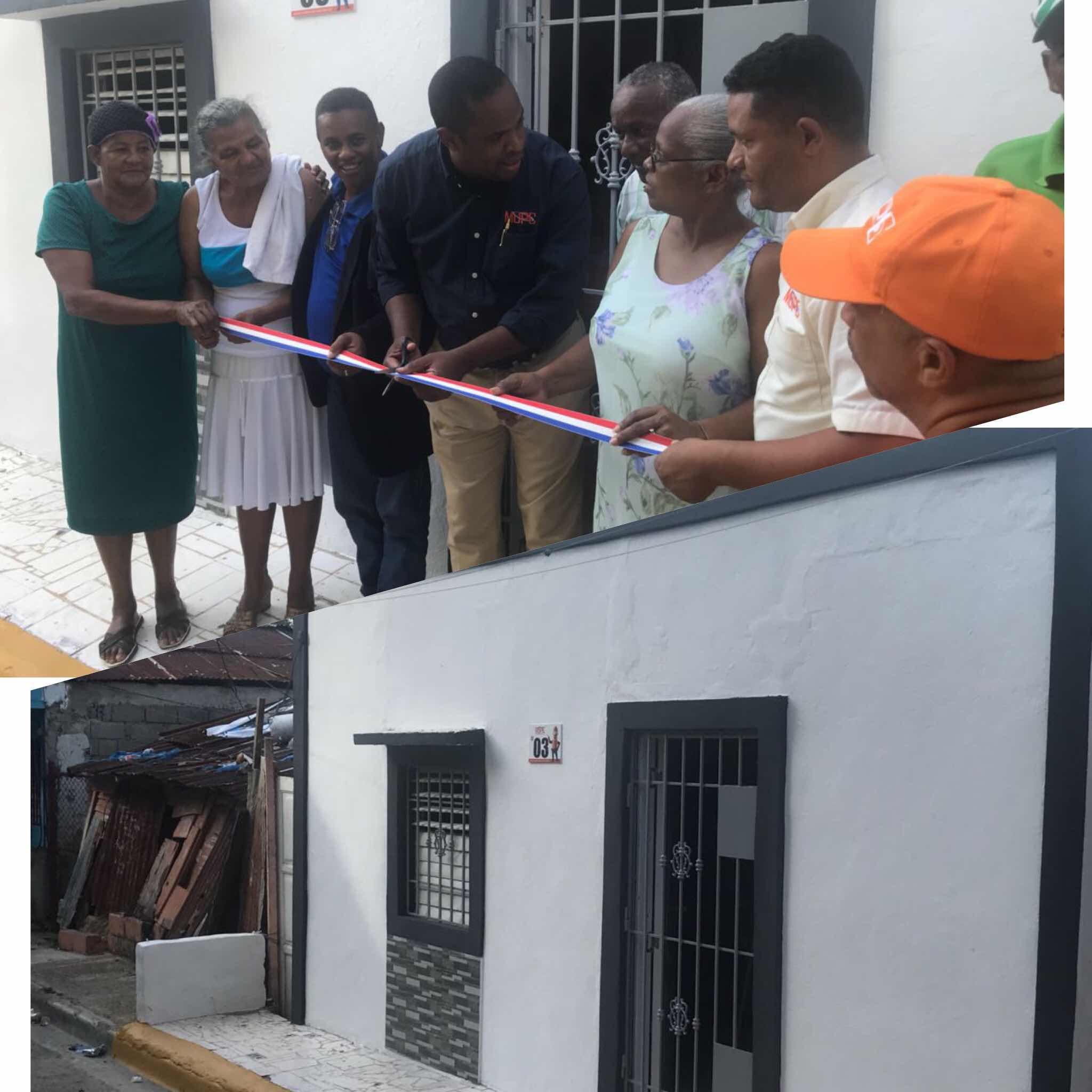 Ministerio de Obras Públicas construye casa a familia pobre de Gualey