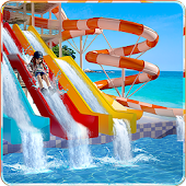 Water Slide Amusement Park: Uphill Rush Adventure