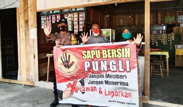 Turun ke Jalan, Polsek Banting Sosialisasikan Saber Pungli