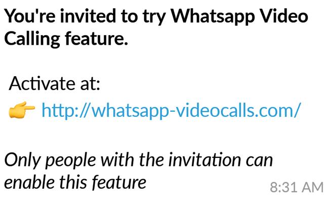Penipuan undangan video calling WhatsApp