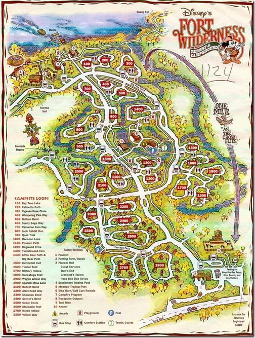 fort wilderness map