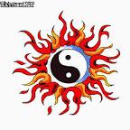 sun - Yin Yang Tattoos Designs