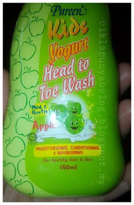 Pureen Kids Yogurt Head to Toe Wash : wangikan si kecil anda.