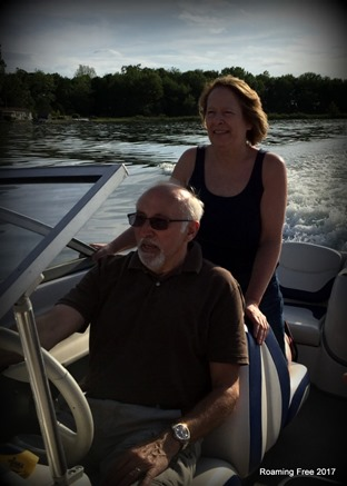 Dan & Diane on their boat