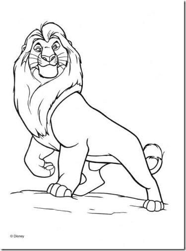 Colorear dibujos del Rey león