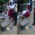 Photo: See What A Security Operative Made A Student Do For Dumping Refuse In An Unauthorized Place!!