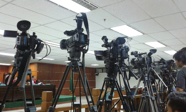 10.Our arsenal. When physically attacked, journalist equipment also become one of the targets. Photo was taken in 2013 in Jakarta.